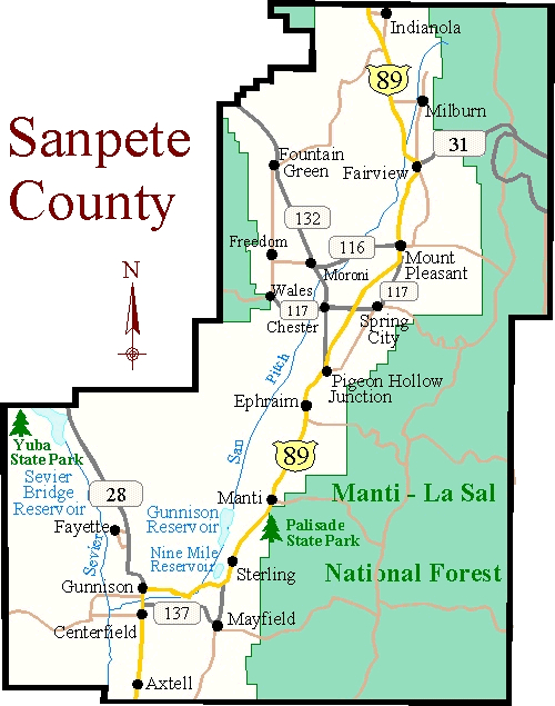 Sanpete County Utah Map.File Sanpete County Jpg The 1857 Iron County Militia Project
